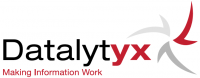 Datalytyx Logo - Making Information Work - Red