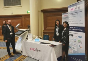 Execview's Dan, Mel and Mamta on the Execview stand